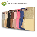 C&T Detachable Leather Wallet Phone Case Credit Card Case with Tassel for iPhone 7