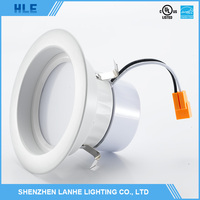 hot selling high brightness aluminum housing ultra thin round ip65 9w led downlight