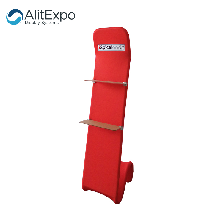 tension fabric advertising fair lightweight portable literature stand