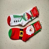 snowman and santa old man christmas festival sock