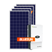 Bluesun Good Quality 5kw Solar Energy Systems Grid Tied 220V 230V Portable Solar Power System for Home Usage