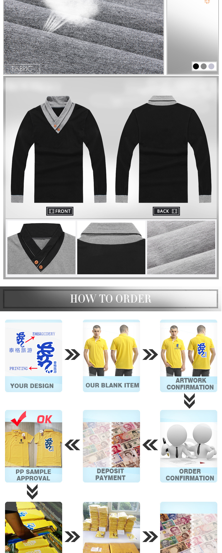 Design t shirt no minimum order - High Quality Mens New Fashion Design Hot Selling Of Men S Plain Long Sleeve Hanfu Collar T