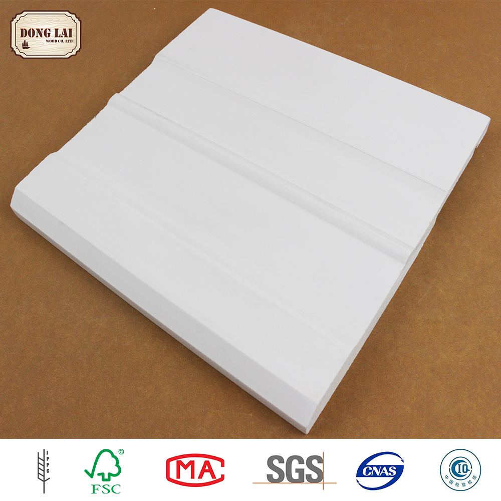 Custom Waterproof Wall Cheap Solid Wood Furniture white gesso primed finger Joint Skirting Laminated Board Panel