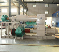 Factory price solid hollow clay vacuum extruder automatic small interlocking brick making machine price list