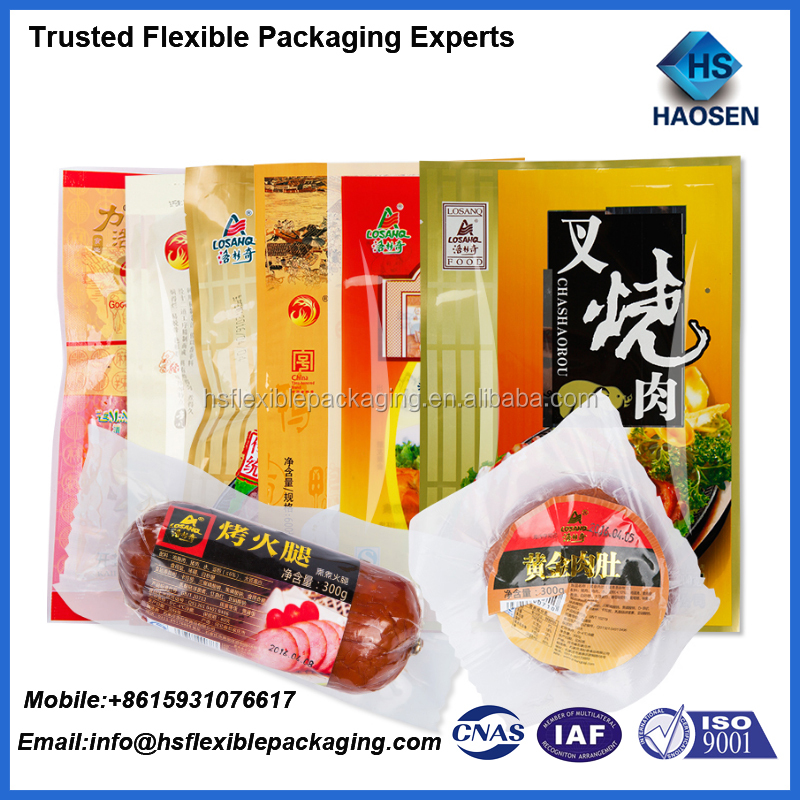 hot sale custom logo vacuum plastic bag for meat packaging/chicken packaging bags