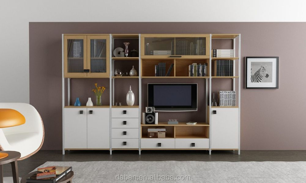 Plywood mdf particle board tv cabinet design in living for Home hall furniture design