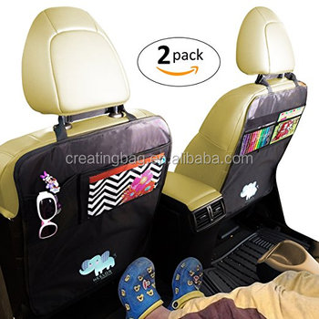 Deluxe Car Seat Protector and Back Cover, Kids Kick Mat With Organizer