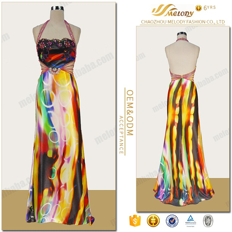 Custom made summer party one piece backless decoration party dress