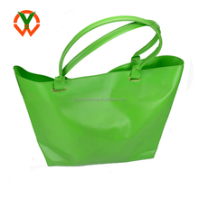 PVC Strong Tote green Eco shopping bag tote bag custom logo different color choosable