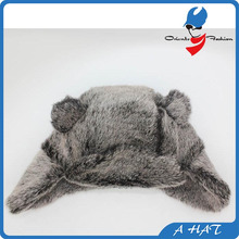 customized kids faux fur winter hats
