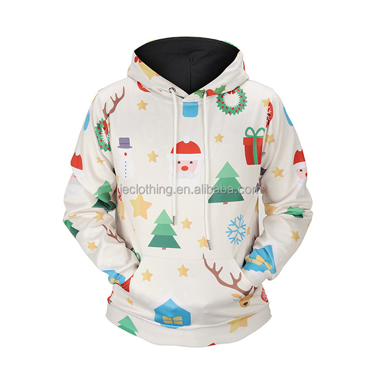 Allover Print Christmas Creative Design Pullover Sublimation 3D Hoodie