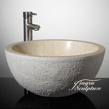 Professional polished marble counter top washbasin