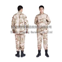 [Wuhan YinSong] 65% Polyester 35% Cotton Ripstop Tri-color Desert Camo Shirt and Pants/Combat Uniform/Tactical Uniform