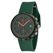 Multifunction 5ATM Water Resistant Rubber Strap Tachymeter Men Watch Winner Green