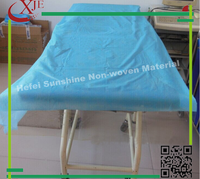 blue disposable nonwoven bed sheet for hospital