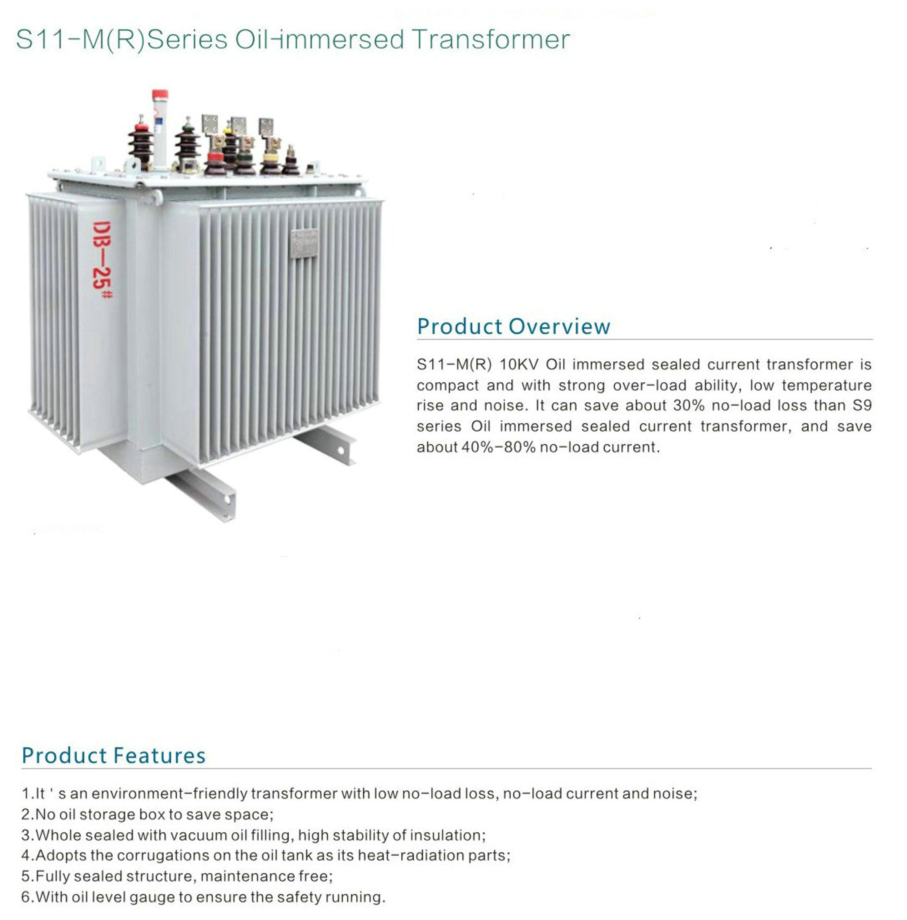 Power Usage oil distribution transformer