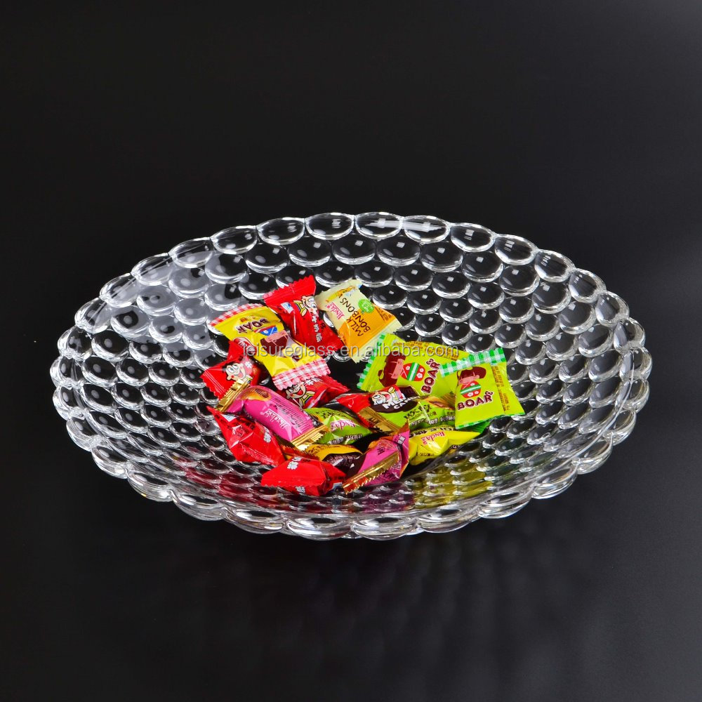 Beading clear glass plate