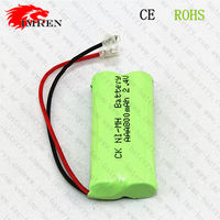 Ni-Mh AAA 800mah 2.4V Rechargeable Cordless Phone Green Battery Pack