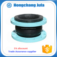 high pressure single ball flexible rubber expansion joint with flange