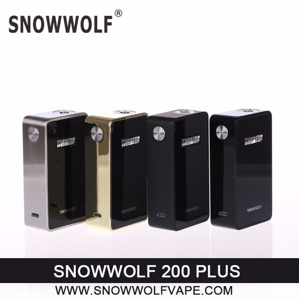 Wholesale New Model Snowwolf 200W Plus With Touch Screen starbuzz E Hose Electronic Cigarette Dubai