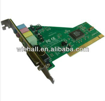 2013 Hot sell 4 channel 3D channel PCI Sound Card