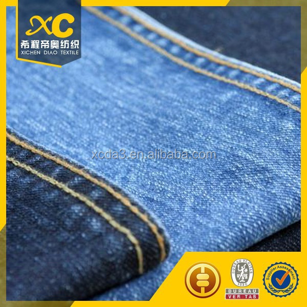 Turkey denim blue jeans fabric from china manufacturer