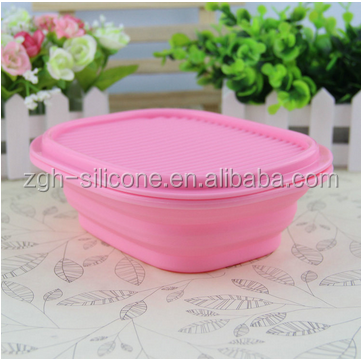 Wholesale hot sale colorful tableware folding school lunch box kitchen folding