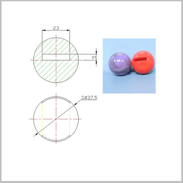Dongguan manufacturer high bouncy silicone rubber ball for dog