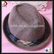 fashion cheap plaid fedora hat trilby hats
