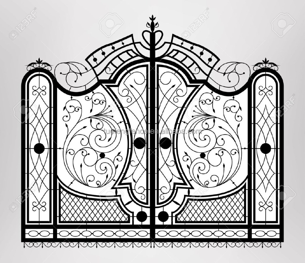 Metal gate gates and steel fence design steel door Metal gate designs images
