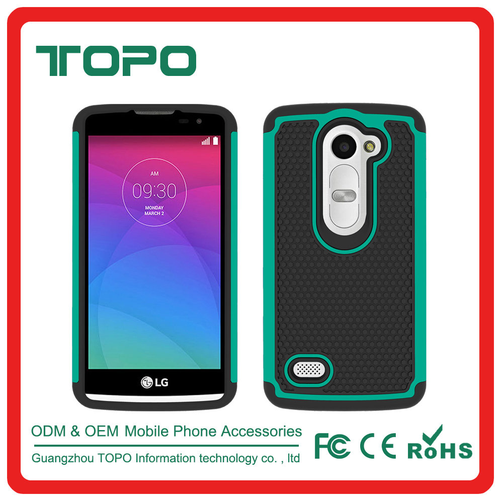 [TOPO] PC TPU 2 in 1 Material Football Shockproof Silicone Mobile Phone case For LG Tribute2 LS665 Phone cover