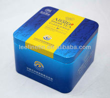 High quality beautiful small square tea tin can