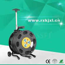 110v plastic 3 multi sockets cable reel black outdoor extension cord reel