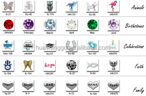Hot sale animal /butterfly floating charms in glass locket