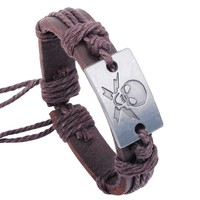 Fashion Accessories Cheap Leather Bracelets Alloy