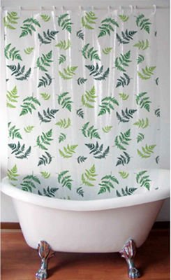 Fern Leaves Design Shower Curtain