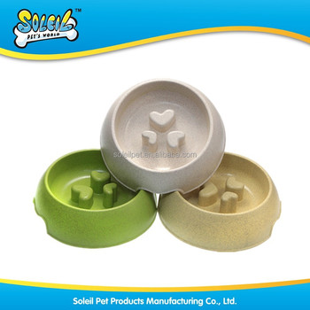 New Pet Supply Eco Friendly Slow Feed Dog Bowl