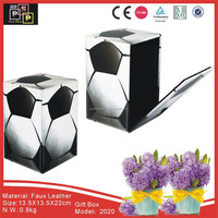 Hello Pink Factory Direct offer Football Design PU Leather custom made gift boxes