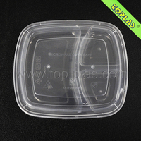 Disposable Compartment Plastic Plate Food
