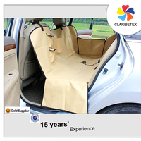 An Hour Replied Thick Adjustable Beige PVC Pet Car Seat Cover