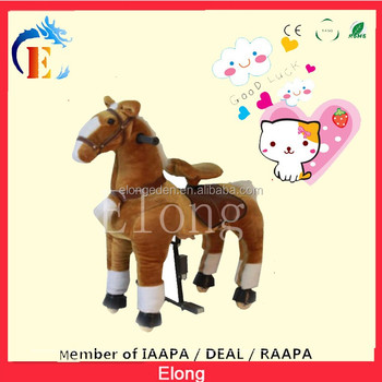 2016 Hot mechanical walking horse, kids toys pony,mechanical horse for sale