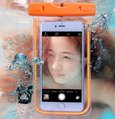 PVC Waterproof Phone Bag Case Underwater Pouch For iPhone 6/ Plus 5S For Samsung Luminous Waterproof Bag