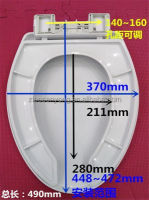 v shape open front pp toilet seat cover soft close lid