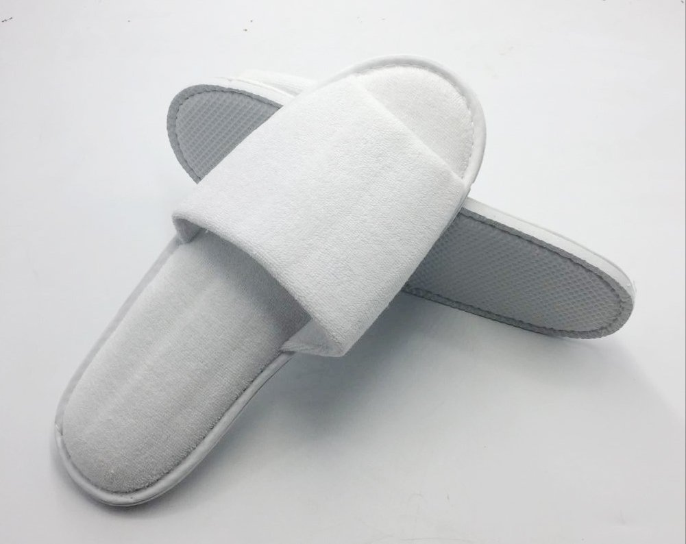 Open Toe Terry Spa Slippers Hotel Unisex Slippers