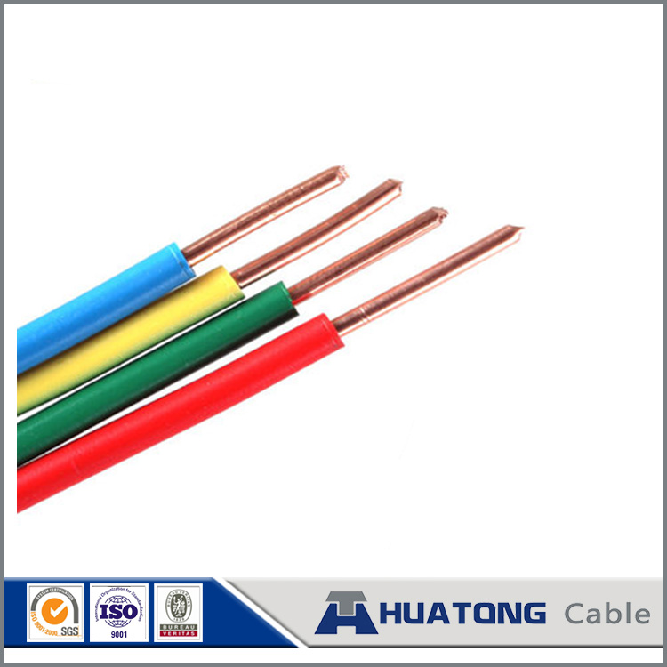 Electrical Wire 0.5mm2 0.75mm2 1.0mm2 1.5mm2 2.0mm2 2.5mm2 PVC Insulation BV Cable