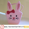 Cheap!! Lovely Pink Bunny felt Easter Basket for eggs hunt