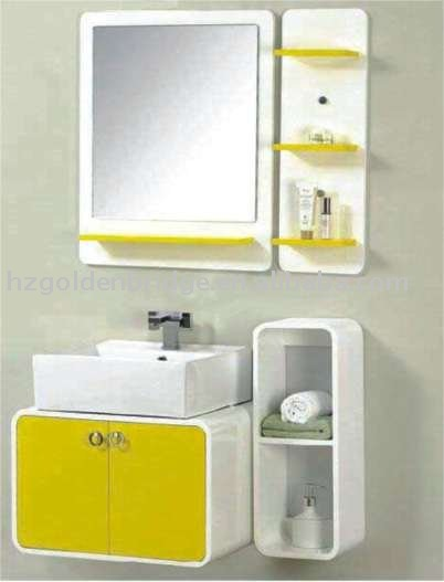 New Design 24 inch wall mounted PVC bathroom vanity high gloss finishGBP-926