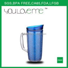 wholesale plastic thermos insulated water jug with handle and silicone frosty mugs and cups