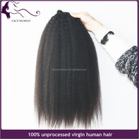 Virgin remy unprocessed Indian100% human hair weaving kinky straight pussy sexy girls extension