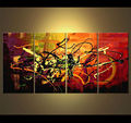 Wholesale Abstract multi-panel Oil Painting,Framed